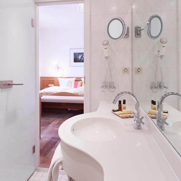 Badezimmer Hotelzimmer Heidelberg
